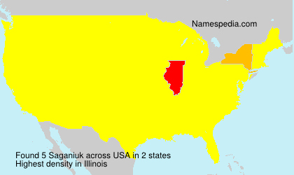 Surname Saganiuk in USA
