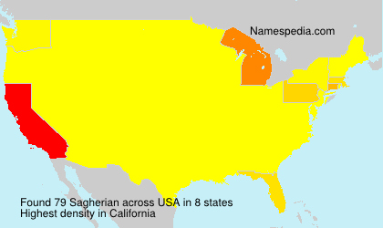 Surname Sagherian in USA