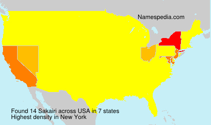 Surname Sakairi in USA