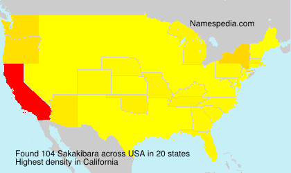 Surname Sakakibara in USA