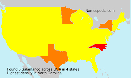 Surname Salamanco in USA
