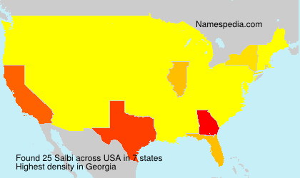 Surname Salbi in USA