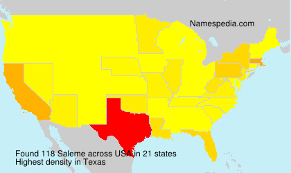 Surname Saleme in USA