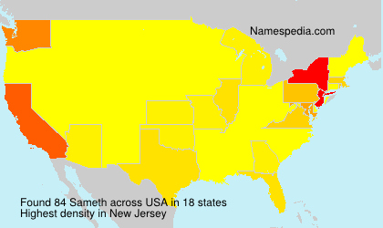 Surname Sameth in USA