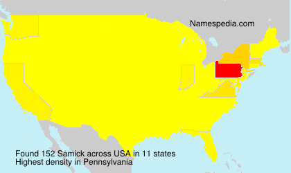 Surname Samick in USA
