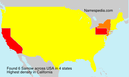 Surname Samow in USA