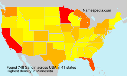 Surname Sandin in USA