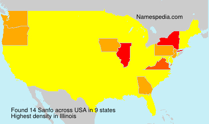 Surname Sanfo in USA