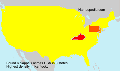 Surname Sappelli in USA