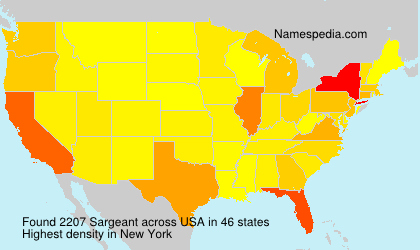 Surname Sargeant in USA
