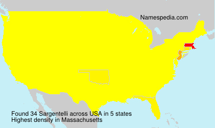 Surname Sargentelli in USA