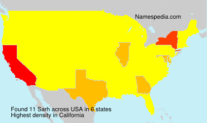 Surname Sarh in USA