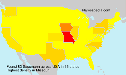 Surname Sassmann in USA