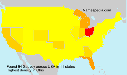 Surname Sauvey in USA