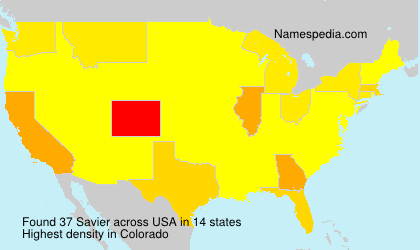 Surname Savier in USA