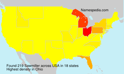 Surname Sawmiller in USA