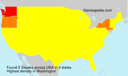 Surname Sayaka in USA