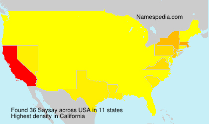 Surname Saysay in USA