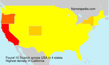 Surname Scarich in USA