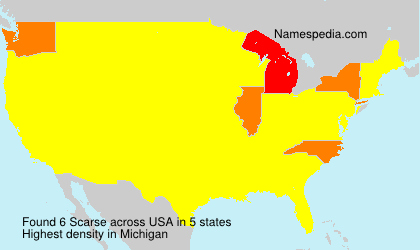 Surname Scarse in USA