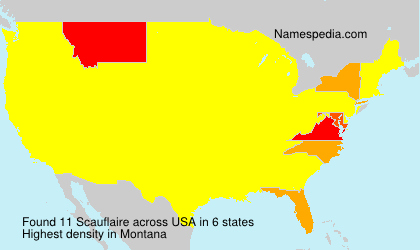 Surname Scauflaire in USA