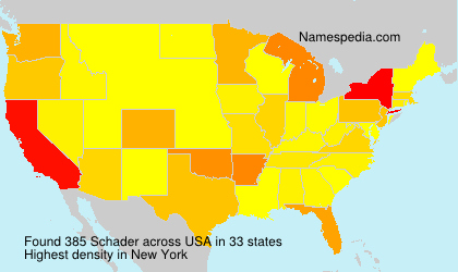 Surname Schader in USA