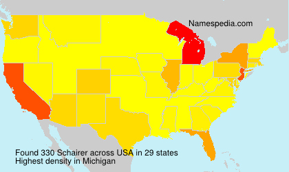Surname Schairer in USA