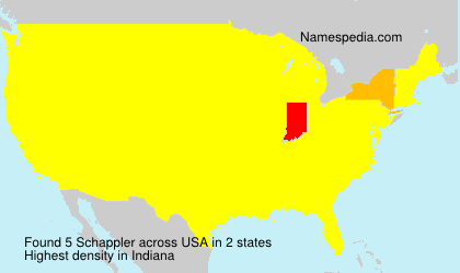 Surname Schappler in USA