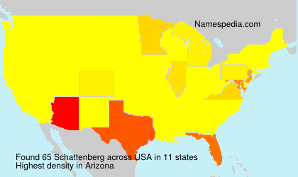 Surname Schattenberg in USA
