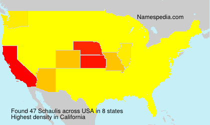 Surname Schaulis in USA