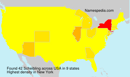 Surname Scheibling in USA