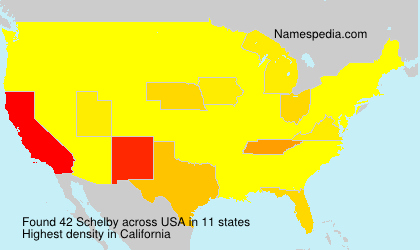 Surname Schelby in USA