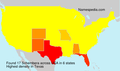 Surname Schembera in USA