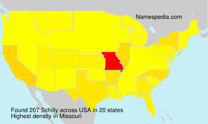 Surname Schilly in USA