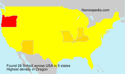 Surname Schjoll in USA