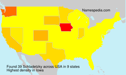 Surname Schladetzky in USA
