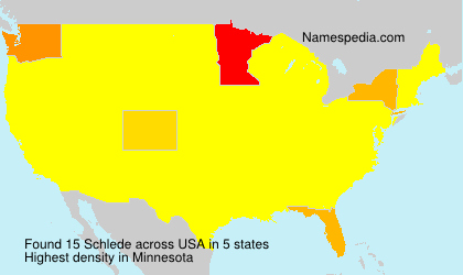 Surname Schlede in USA