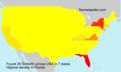Surname Schleith in USA