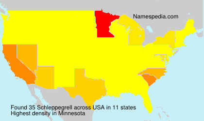 Surname Schleppegrell in USA