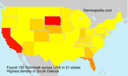 Surname Schmiedt in USA
