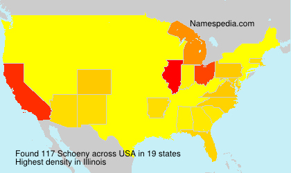 Surname Schoeny in USA