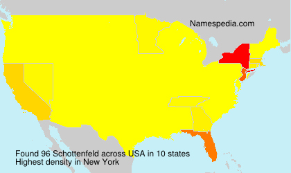 Surname Schottenfeld in USA