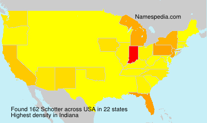 Surname Schotter in USA