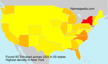 Surname Schubart in USA