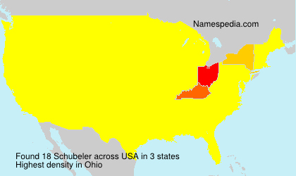 Surname Schubeler in USA
