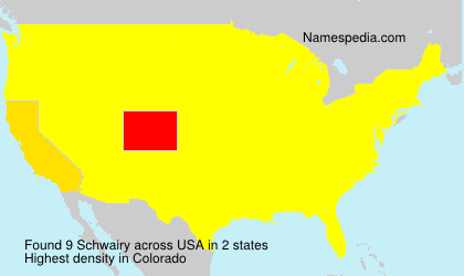 Surname Schwairy in USA