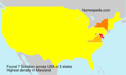 Surname Scindian in USA