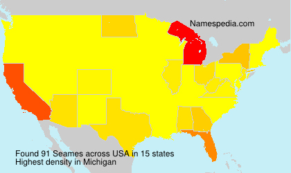 Surname Seames in USA