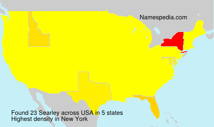 Surname Searley in USA