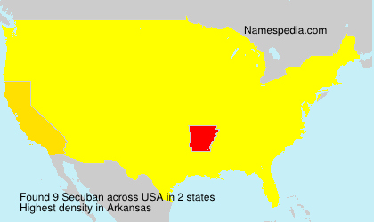 Surname Secuban in USA